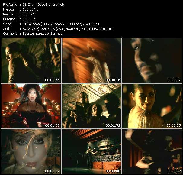 Screenshot of Music Video Cher - Dove L'amore