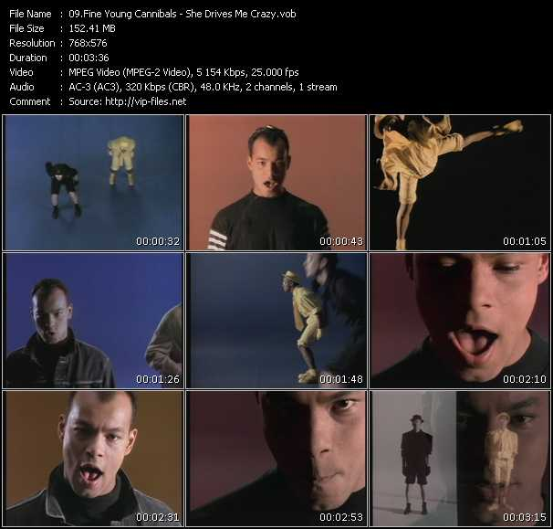 Screenshot of Music Video Fine Young Cannibals - She Drives Me Crazy