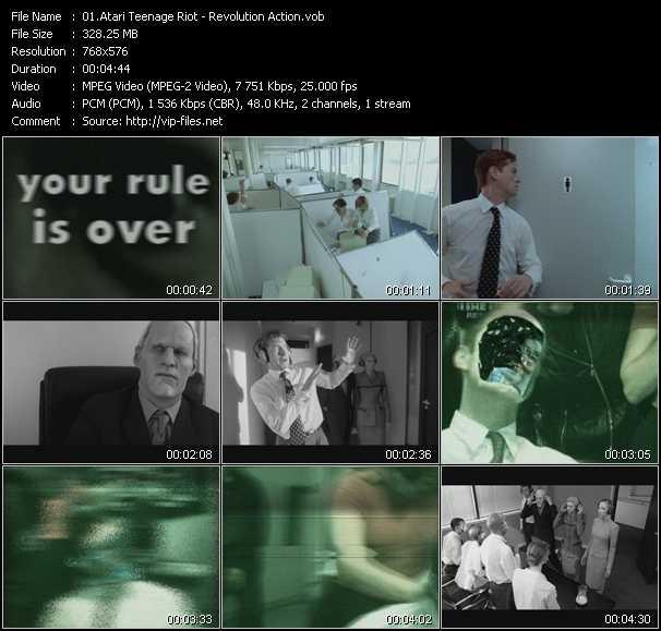Screenshot of Music Video Atari Teenage Riot - Revolution Action