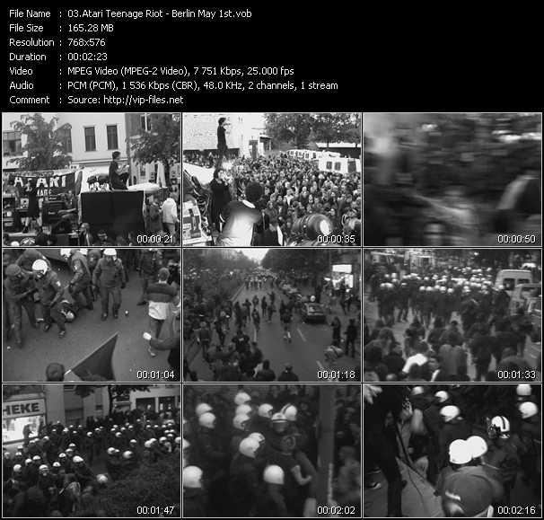 Screenshot of Music Video Atari Teenage Riot - Berlin May 1st