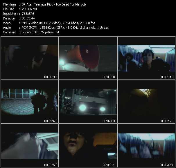 Screenshot of Music Video Atari Teenage Riot - Too Dead For Me