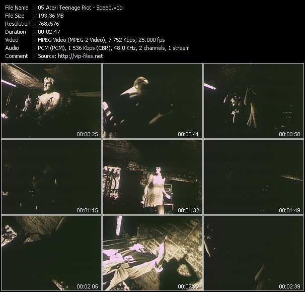 Screenshot of Music Video Atari Teenage Riot - Speed