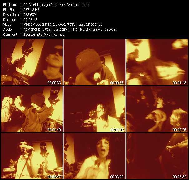 Screenshot of Music Video Atari Teenage Riot - Kids Are United