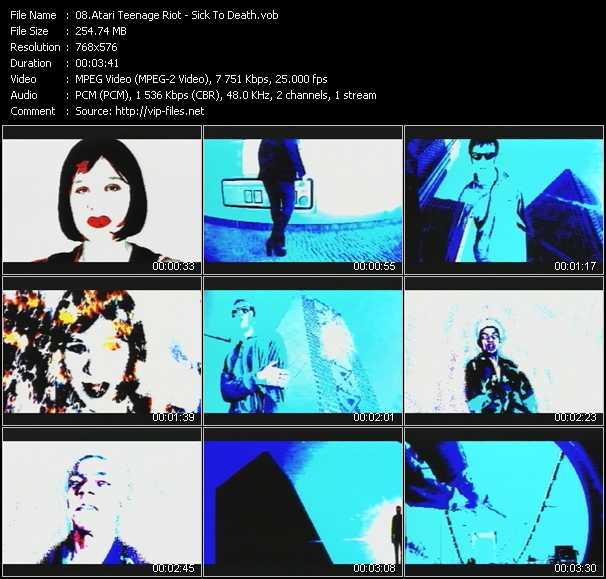 Screenshot of Music Video Atari Teenage Riot - Sick To Death
