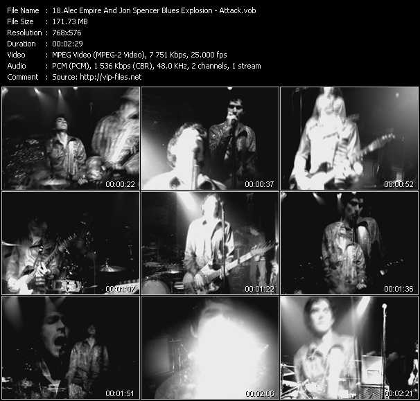 Screenshot of Music Video Alec Empire And Jon Spencer Blues Explosion - Attack