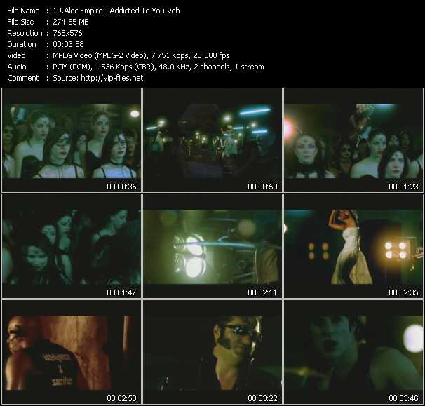 Screenshot of Music Video Alec Empire - Addicted To You