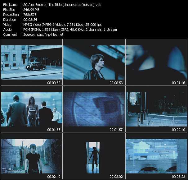 Screenshot of Music Video Alec Empire - The Ride (Uncensored Version)