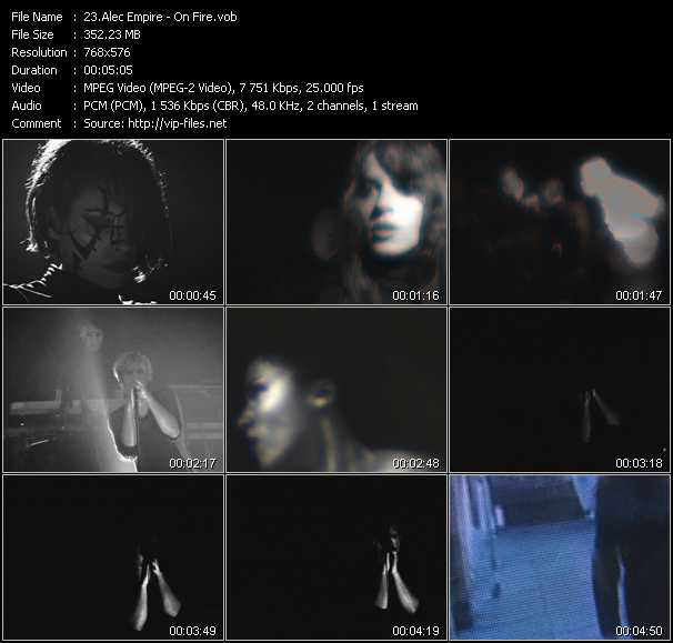 Screenshot of Music Video Alec Empire - On Fire