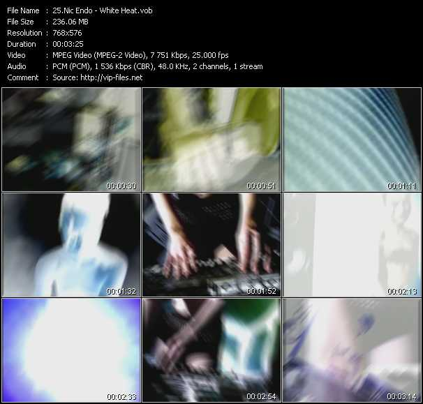Screenshot of Music Video Nic Endo - White Heat