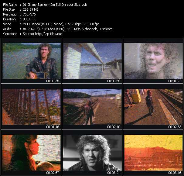 Screenshot of Music Video Jimmy Barnes - I'm Still On Your Side