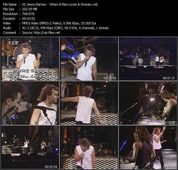 Screenshot of Music Video Jimmy Barnes - When A Man Loves A Woman