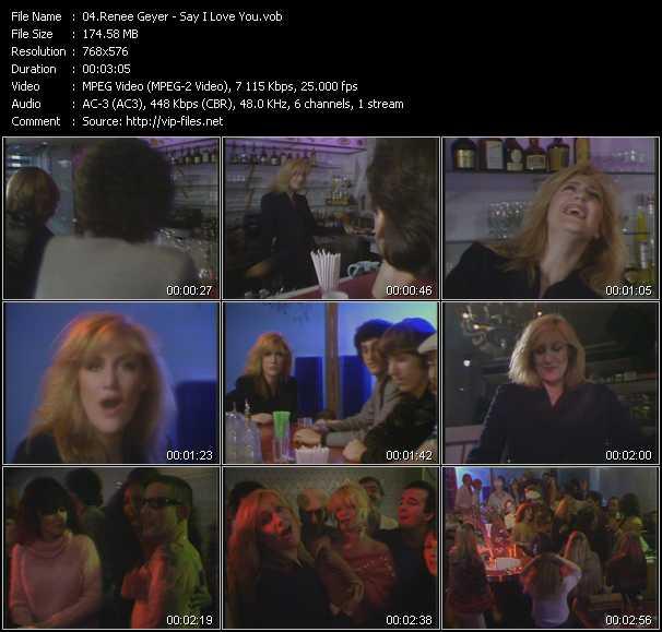 Screenshot of Music Video Renee Geyer - Say I Love You