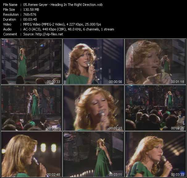 Screenshot of Music Video Renee Geyer - Heading In The Right Direction