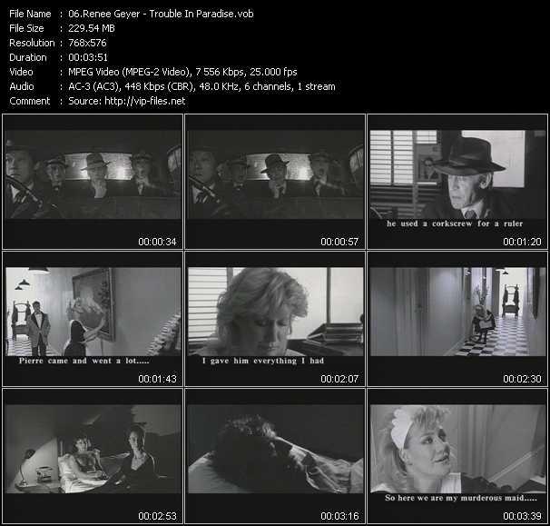 Screenshot of Music Video Renee Geyer - Trouble In Paradise
