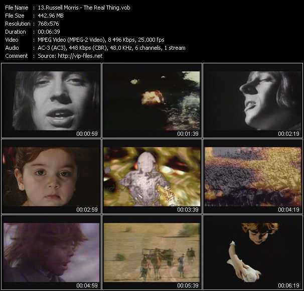 Screenshot of Music Video Russell Morris - The Real Thing