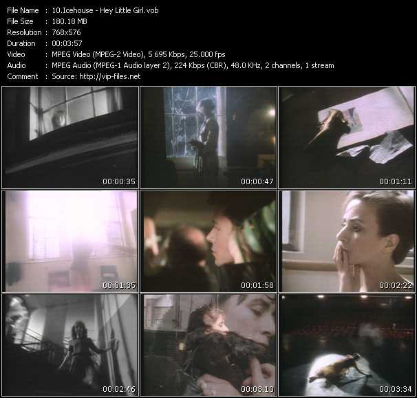 Screenshot of Music Video Icehouse - Hey Little Girl