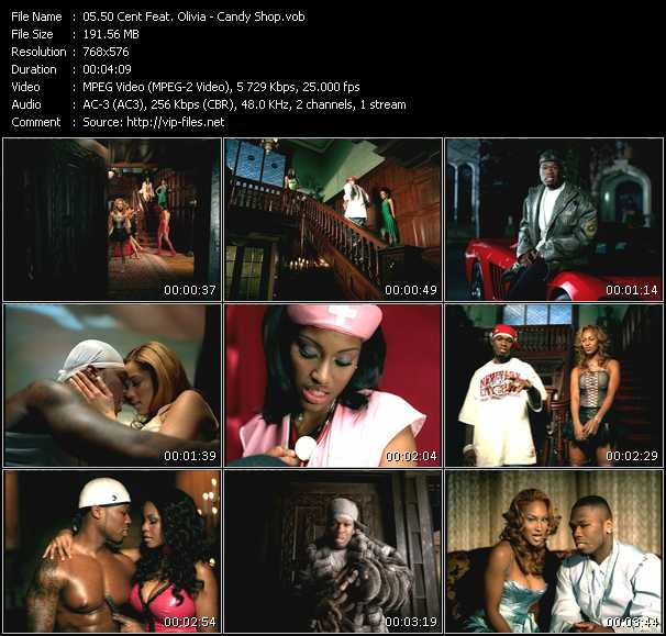 50 cent feat. Olivia candy shop download music video clip from.