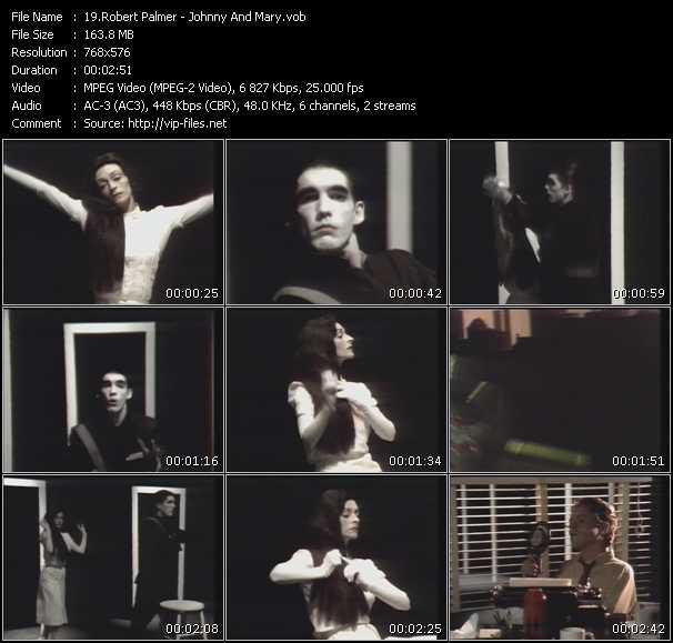 Screenshot of Music Video Robert Palmer - Johnny And Mary