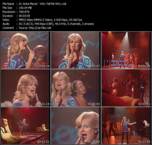 Screenshot of Music Video Anita Meyer - Why Tell Me Why