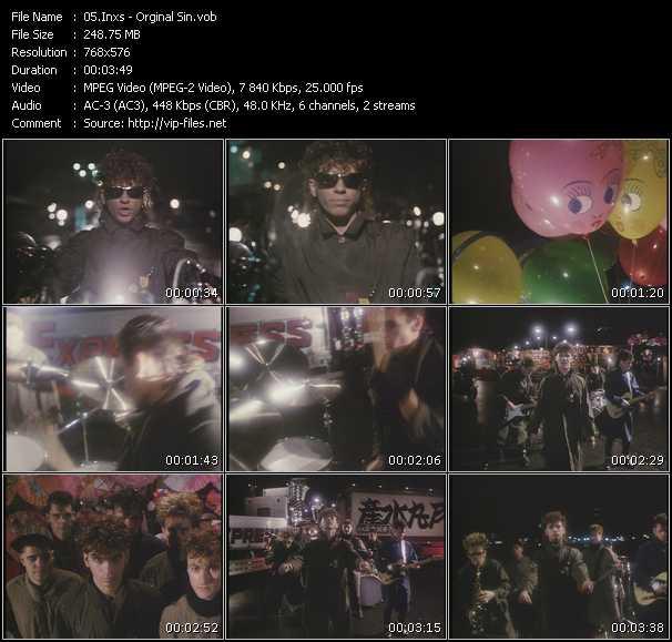 Screenshot of Music Video Inxs - Orginal Sin