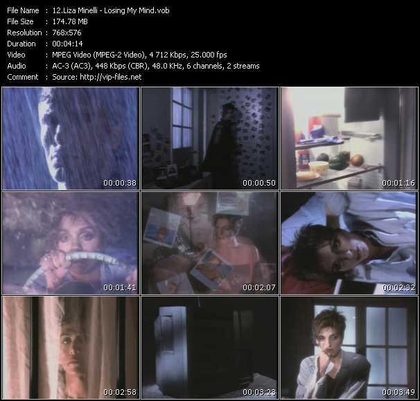 Screenshot of Music Video Liza Minnelli - Losing My Mind