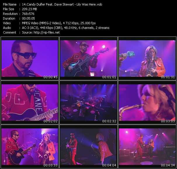 Screenshot of Music Video Candy Dulfer Feat. Dave Stewart - Lily Was Here