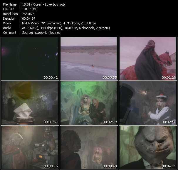 Screenshot of Music Video Billy Ocean - Loverboy