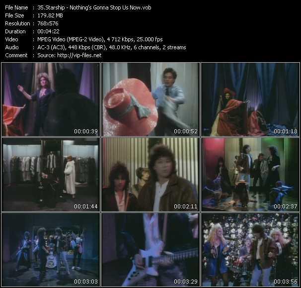 Screenshot of Music Video Starship (Jefferson Starship) - Nothing's Gonna Stop Us Now