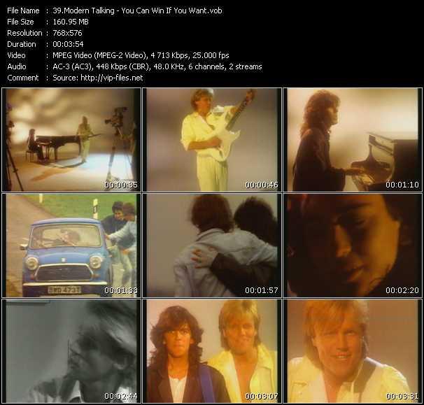 Screenshot of Music Video Modern Talking - You Can Win If You Want