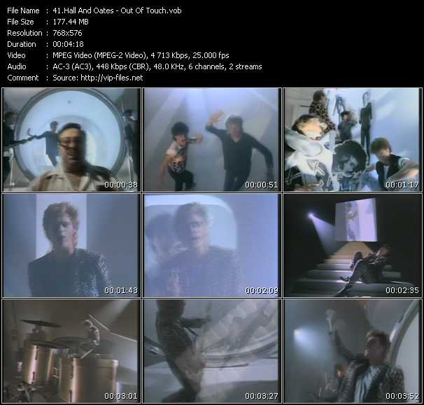 Screenshot of Music Video Hall And Oates (Daryl Hall And John Oates) - Out Of Touch
