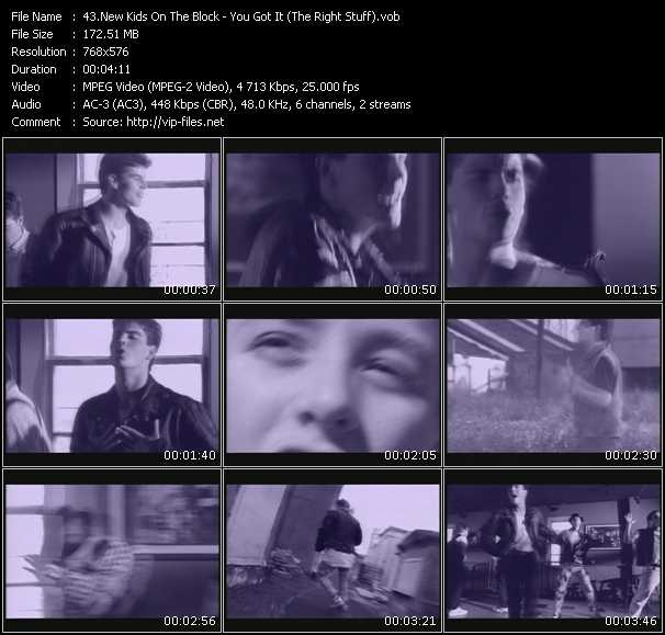 Screenshot of Music Video New Kids On The Block - You Got It (The Right Stuff)