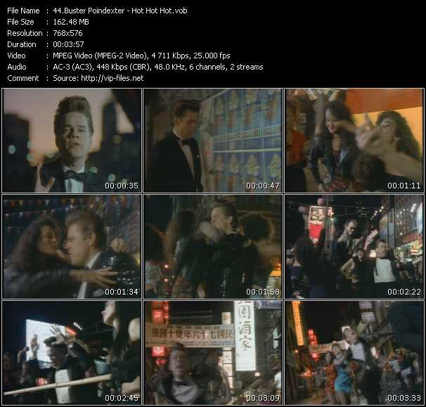 Screenshot of Music Video Buster Poindexter - Hot Hot Hot