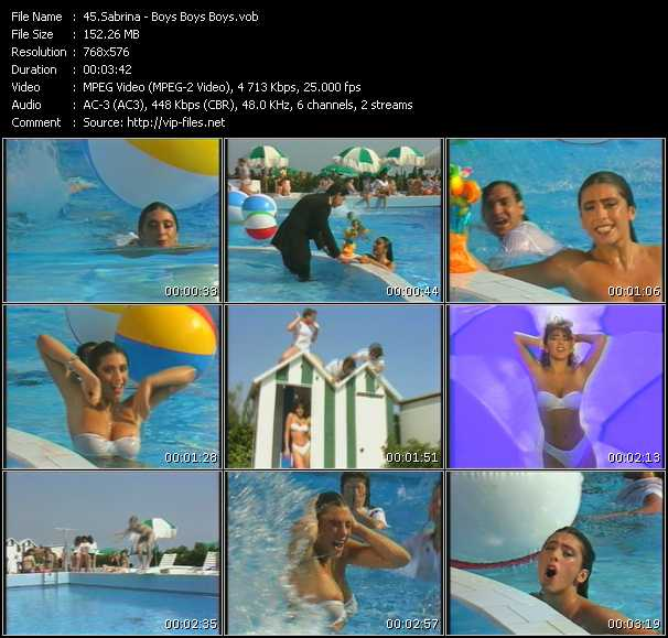 Screenshot of Music Video Sabrina (Sabrina Salerno) - Boys (Summertime Love)