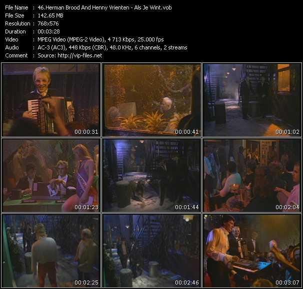 Screenshot of Music Video Herman Brood And Henny Vrienten - Als Je Wint