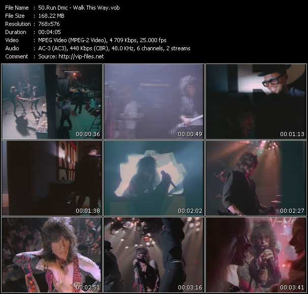 Screenshot of Music Video Run DMC Feat. Aerosmith - Walk This Way