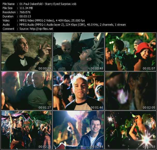 Screenshot of Music Video Paul Oakenfold - Starry Eyed Surprise