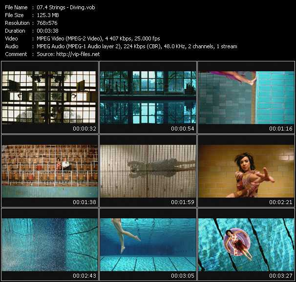 Screenshot of Music Video 4 Strings - Diving