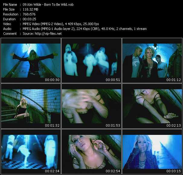 Screenshot of Music Video Kim Wilde - Born To Be Wild