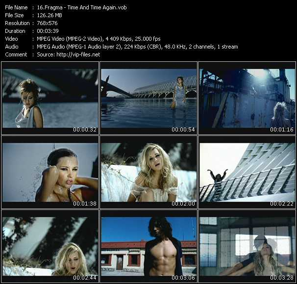 Screenshot of Music Video Fragma - Time And Time Again