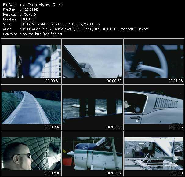 Screenshot of Music Video Trance Allstars - Go