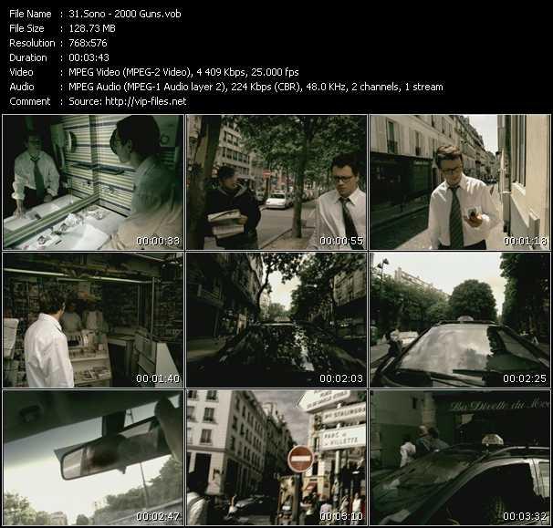 Screenshot of Music Video Sono - 2000 Guns
