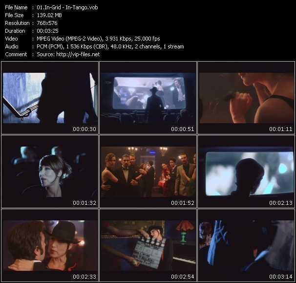 Screenshot of Music Video In-Grid - In-Tango