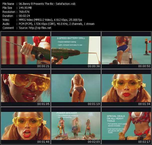Screenshot of Music Video Benny Benassi Pres. The Biz - Satisfaction