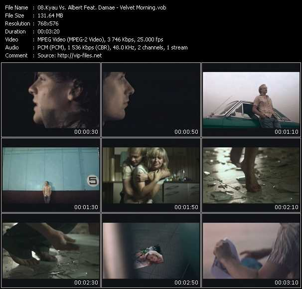 Screenshot of Music Video Kyau And Albert Feat. Damae - Velvet Morning