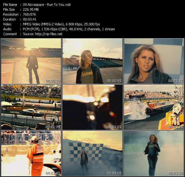 Screenshot of Music Video Novaspace - Run To You