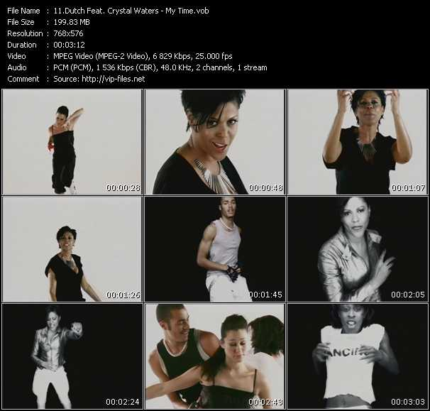 Screenshot of Music Video Dutch Feat. Crystal Waters - My Time