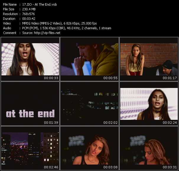 Screenshot of Music Video Iio - At The End