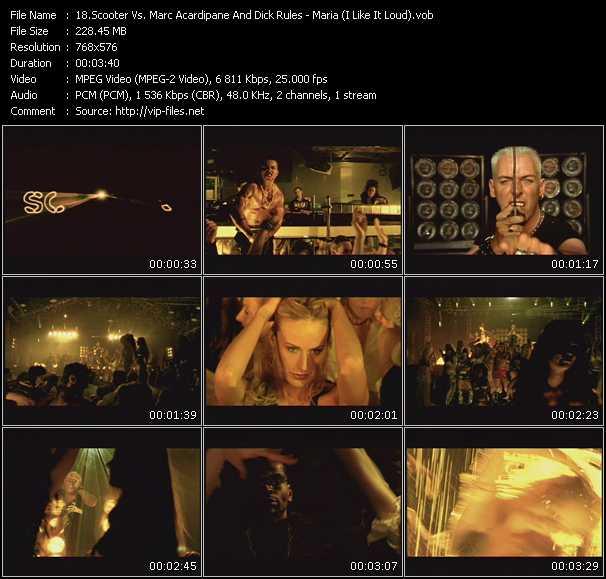 Screenshot of Music Video Scooter Vs. Marc Acardipane And Dick Rules - Maria (I Like It Loud)