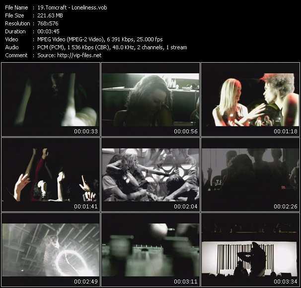 Screenshot of Music Video Tomcraft - Loneliness
