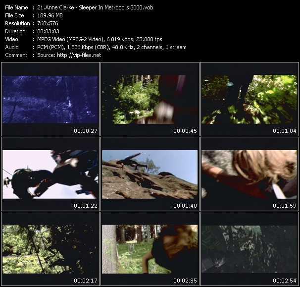 Screenshot of Music Video Anne Clark - Sleeper In Metropolis 3000